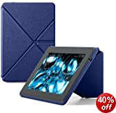 "Amazon Kindle Fire HD 7"" Standing Leather Origami Case (will only fit All-New Kindle Fire HD 7""), Blue"