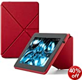 "Amazon Kindle Fire HD 7"" Standing Leather Origami Case (will only fit All-New Kindle Fire HD 7""), Red"
