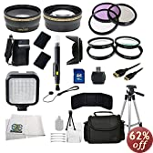 52mm Outdoor Ultimate Accessory Package for Nikon D3100, D3200, D3300, D5100, D5200, D5300 & D5500 DSLR Cameras Which Have Any Of These (18-55mm, 55-200mm, 24mm f/2.8D, 28mm f/2.8D, 35mm f/1.8G, 35mm f/2.0D, 40mm f/2.8G, 50mm f/1.4D, 50mm f/1.8D & 85mm f/3.5G) Lens