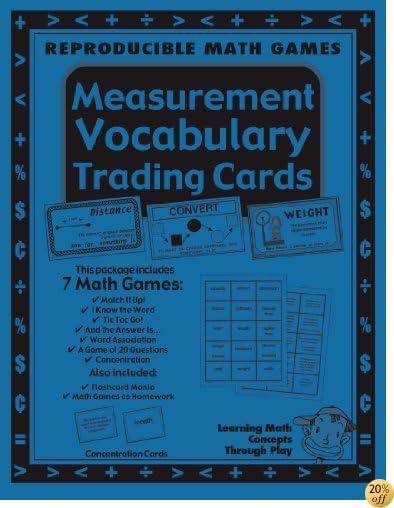 Measurement-Math Vocabulary Trading Cards