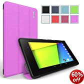 Poetic Slimline Case with Auto Wake and Sleep Function for Google Nexus 7 FHD 2nd Generation 2013 Android Tablet - Lavender