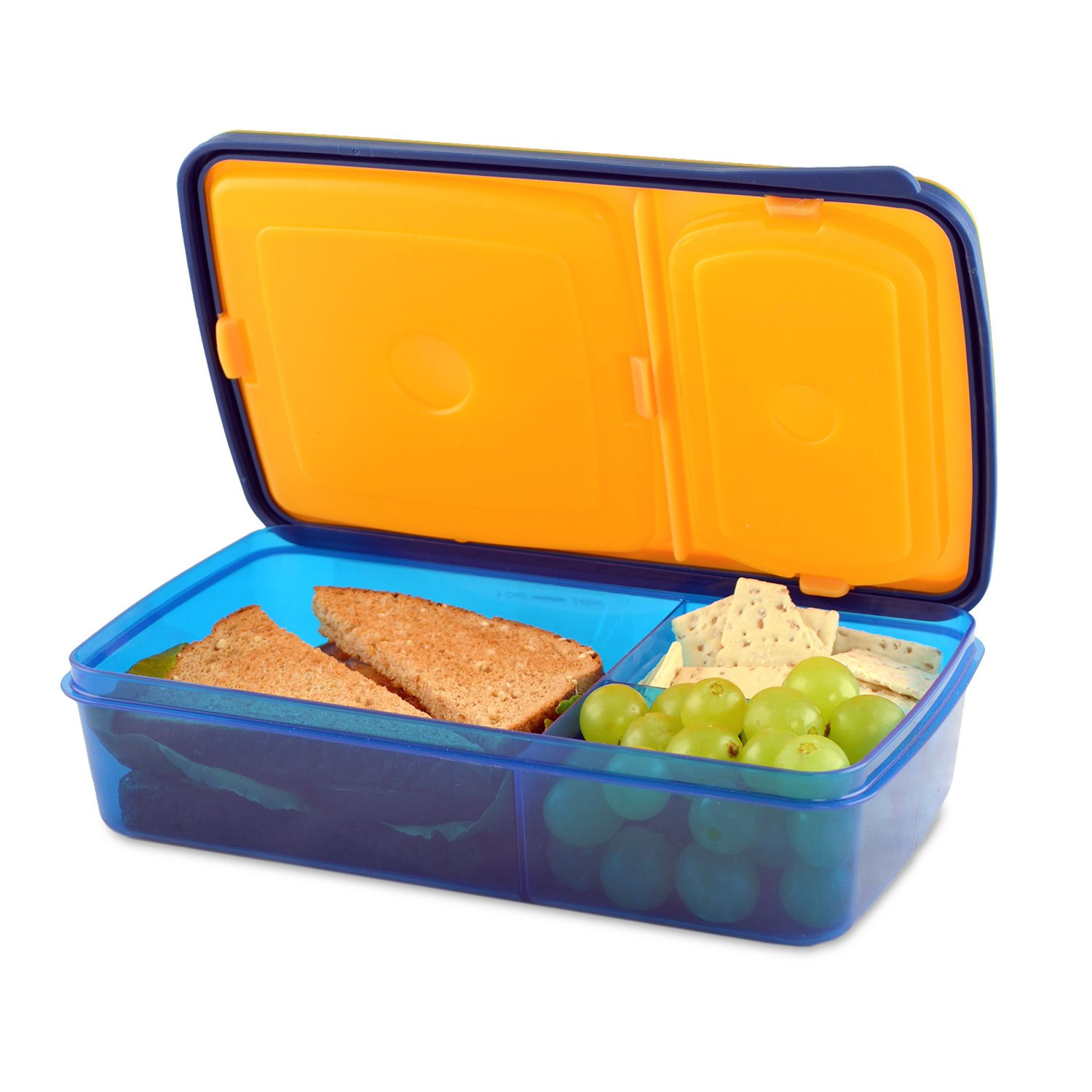 fit fresh soft touch bento lunch box 3 compartments kids. Black Bedroom Furniture Sets. Home Design Ideas