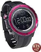 Pyle PSWWM82PN Digital Multifunction Sports Watch with Altimeter/Barometer/Chronograph/Compass and Weather Forecast (Pink)