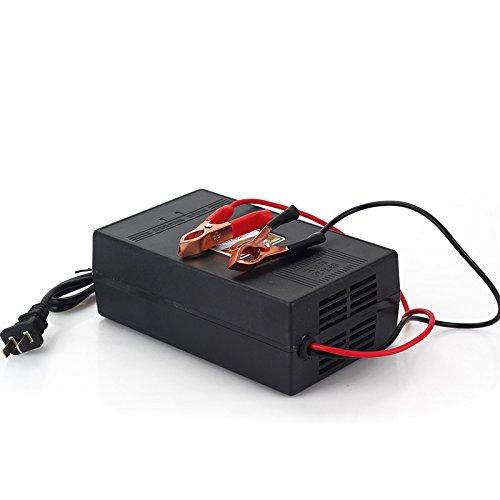 使用时请将充电器输出电瓶夹分别接到蓄电池的正负