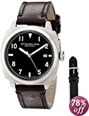 "Stuhrling Original Men's 770.SET.02 ""Tuskegee Spitfire"" Watch Set with Two interchangeable Straps"