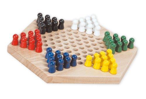 爱美达 六角跳棋九连棋 成人益智木制玩具 儿童智力玩具 亲子桌游跳棋图片