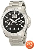 Marc Ecko Men's E13561G2 The Henly Silver Black Classic Analog Watch