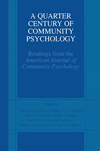 a-quarter-century-of-community-psychology-readings-from-the-american-journal-of-community-psychology