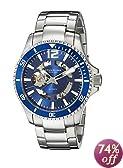 Stuhrling Original Men's 772.02 Regatta Makran Automatic Skeleton Blue Dial Watch