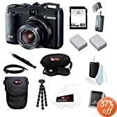 Canon PowerShot G16 12.1 MP CMOS Digital Camera Bundle with 64GB SD Memory Card + Card Reader + Large Case + Two Replacement Battery for Canon NB-10L + Wrist Grip Strap + Accessory Kit