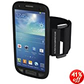 Mediabridge Sport Armband for Samsung Galaxy S4 - Includes Free Screen Protector (Black)