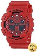 Casio Men's GA-100 G-Shock Neon Highlights Trending Series Watch