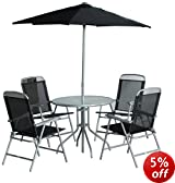CB Imports Steel/ Glass Outdoor Patio Furniture Set (6 Pieces)