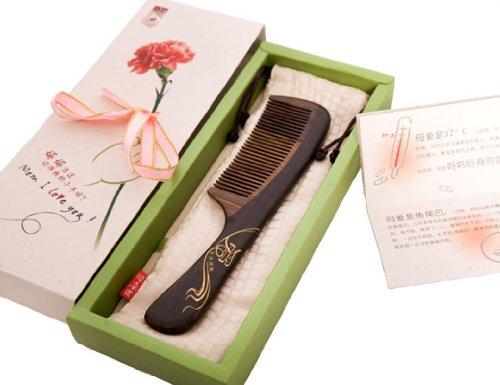 谭木匠梳子 礼盒漆艺梳关爱 梳子 木梳 给妈妈梳头 定制产品 生日礼物