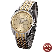 HACBIWA 2013 Classic Men Stainless Steal Wrist Watches Big Dial Watches