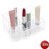 TRIXES Transparentes Kästchen für Make-Up, Lippenstift und Kosmetik zur Aufbewahrung