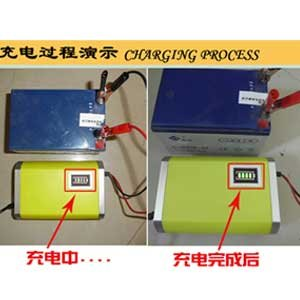 充电时,电源插上未接电瓶时充电器指示灯会红绿闪烁