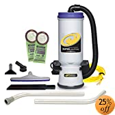 ProTeam Super CoachVac HEPA Commercial Backpack Vacuum w/ Versatile Tool Kit & 2 pc wand, 10 quart