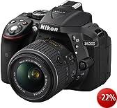 Nikon D5300 SLR-Digitalkamera (24,2 Megapixel, 8,1 cm (3,2 Zoll) LCD-Display, Full HD, HDMI, WiFi, GPS, AF-System mit 39 Messfeldern) Kit inkl. AF-S DX 18-55 VR II Objektiv schwarz