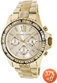 Michael Kors Everest Light Champagne Dial Gold-tone and Horn Acetate Ladies Watch MK5874