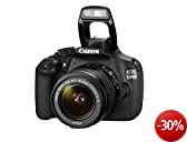 Canon EOS 1200D SLR-Digitalkamera (18 Megapixel APS-C CMOS-Sensor, 7,5 cm (3 Zoll) LCD-Display, Full HD) inkl. 18-55mm IS Objektiv Kit schwarz