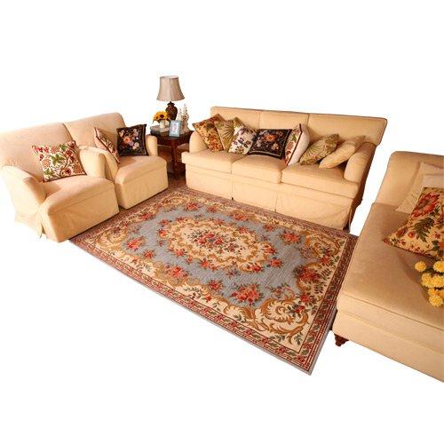 美式田园地毯客厅茶几布衣沙发地毯地中海