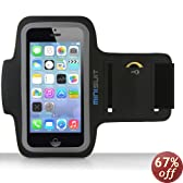 Minisuit SPORTY Armband + Key Holder for iPhone 5/5S/5C, iPod Touch 5 - Black