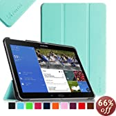 Fintie Samsung Galaxy Tab Pro 10.1 Slim Shell Case Cover - Ultra Slim Lightweight Stand for TabPro 10.1-inch Tablet SM-T520/T525 with Auto Sleep/Wake Feature, Blue