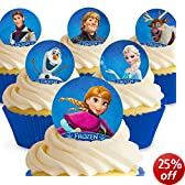 Cakeshop 12 x PRE-CUT Disney Frozen Edible Cake Toppers - Premium Wafer Paper