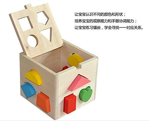 拇指奇特 儿童木制益智数字屋玩具 十三孔智力盒 1-2岁宝宝积木