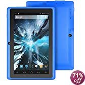 ProntoTec Axius Series 7 Android 4.4 Tablet PC,HD 1024 x 600 Pixels Cortex A8 Dual Core Processor, 512MB/6GB, Dual Camera,G-Sensor, Google Play Pre-loaded - blue