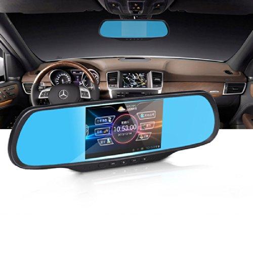 丁威特 车载gps行车记录仪 双镜头 gps导航仪一体机 多功能车载后视镜