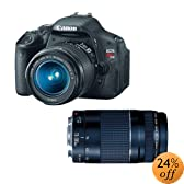 Canon EOS Rebel T3i Digital SLR Camera with 18-55mm and 75-300mm Lenses (discontinued by manufacturer)
