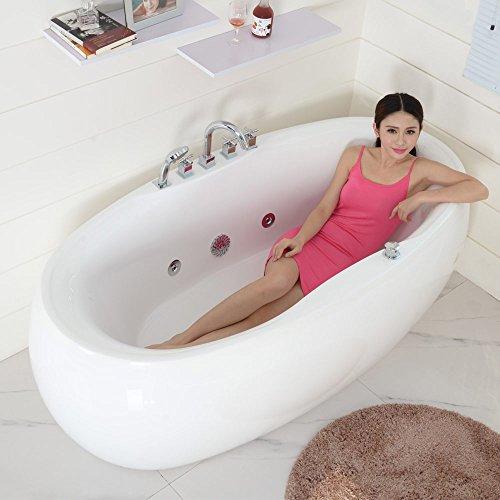 尚雷仕冲浪按摩浴缸亚克力独立式单人欧式恒温加热