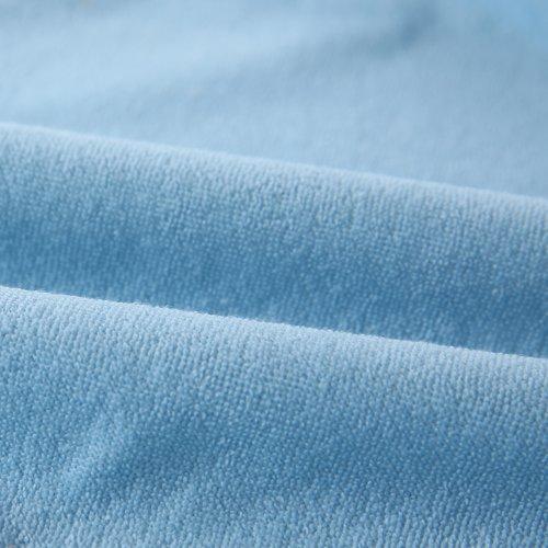 大号婴儿隔尿垫 防水透气床单 纯棉毛巾布床笠席梦思床罩 (蓝色, 180*