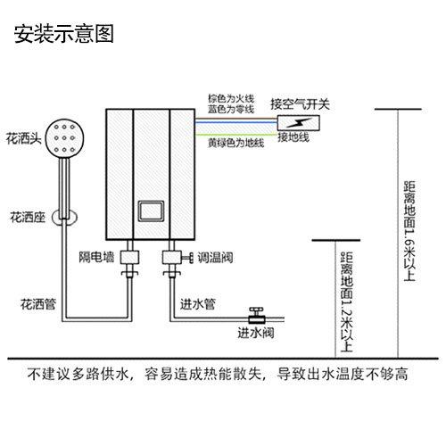 式电热水器 即热式小厨宝热水器(白色)含上门安装 ...