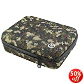 CamKix Water Resistant Case for GoPro -Weatherproof Travel Case Compatible with GoPro Hero4, 3+, 3, 2, 1 and accessories-Keep Your GoPro and Equipment Fully Protected-CamKix®Microfiber Cleaning Cloth 1 Pair of Anti-Fog Inserts Included(Medium/Camouflage)