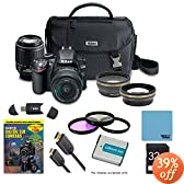Nikon D3200 Ultimate 4 Lens Experience includes: D3200 Camera, AF-S DX NIKKOR 18-55mm f/3.5-5.6 Lens, 55-200mm F/4-5.6G ED AF-S DX Zoom-Nikkor Lens, Pro .45x Wide Angle Lens Converter w/ Macro, Pro 2X Telephoto Lens Converter, 16GB SD Card, 52mm Filter Set & more