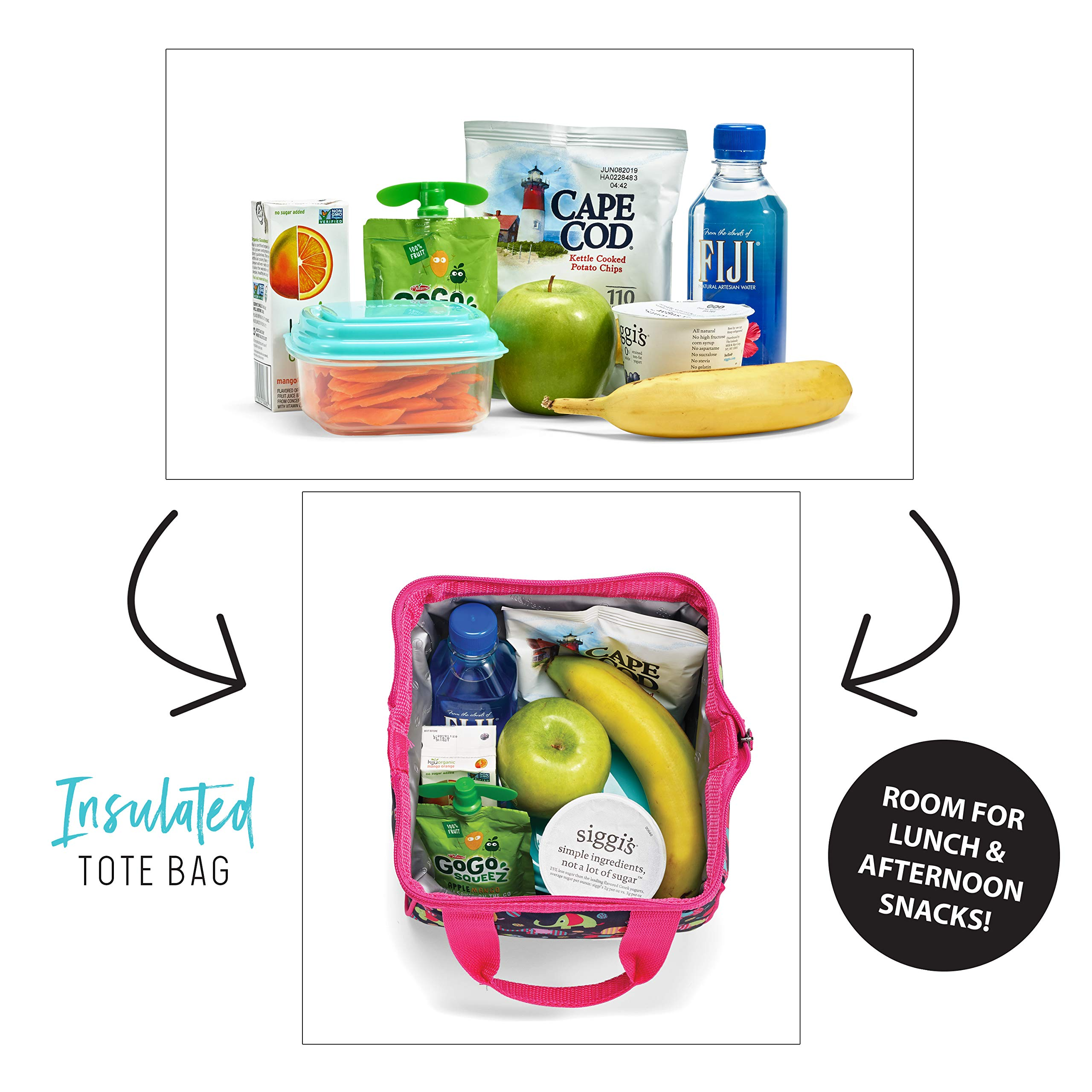 Fit & Fresh Riley Kids' Insulated Lunch Bag (Girls Thermal Tote/Lunch Box)