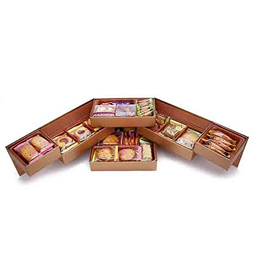 rivon 宏亚礼坊 凯丝霓饼干/月饼礼盒 台湾进口 内含三层 双开门