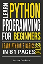 Python: Up and Running With Python. Easy To…