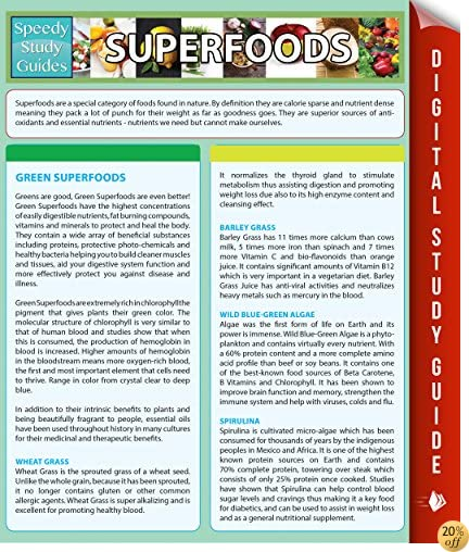 Superfoods (Speedy Study Guides)