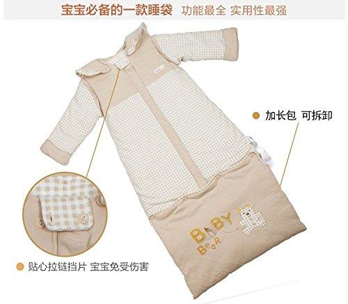胡贝儿 婴儿睡袋 秋冬加厚精梳棉成长宝宝睡袋 儿童防