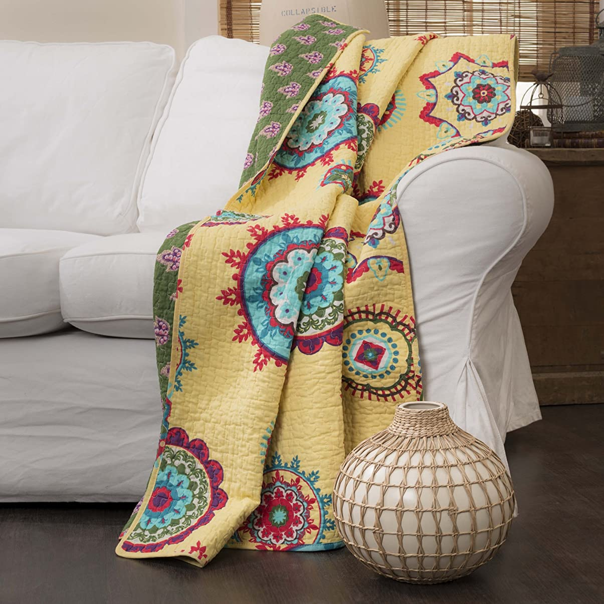 $30 for Quilted Throw by Lush Decor