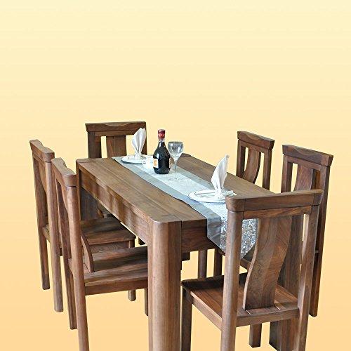 北美黑胡桃全实木圆角餐桌