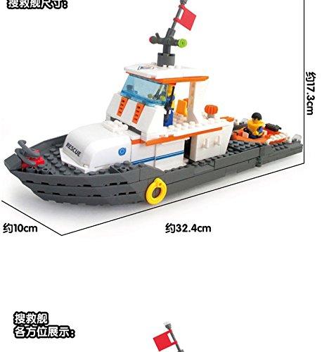 乐高小船拼图图解