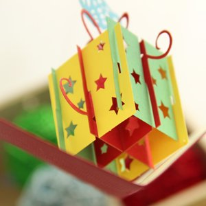 创意3d立体贺卡摩托车模型手工纸雕中秋节节日感恩祝福明信片
