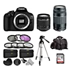 Over $150 Off the Canon EOS Rebel T5 Two Lens Deluxe Accessory Bundle