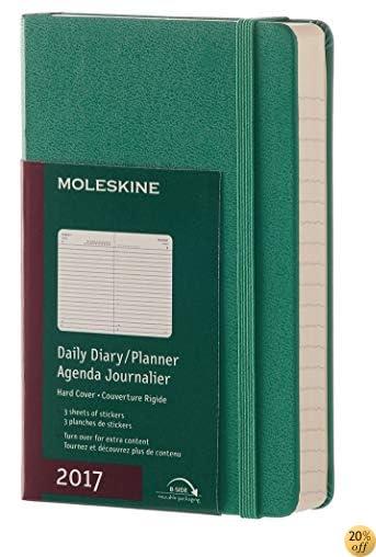 TMoleskine 2017 Daily Planner, 12M, Pocket, Malachite Green, Hard Cover (3.5 x 5.5)