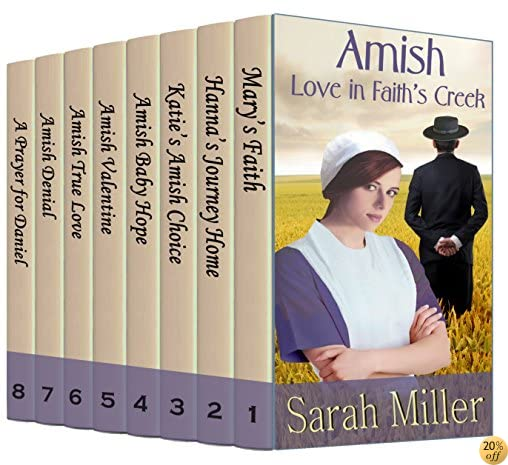 TAmish Love in Faith's Creek: 8 Complete Books in one Boxed Set: Inspirational Amish Romance Bundle